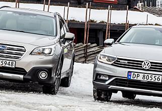 Subaru Outback møter VW Passat Alltrack til kamp!