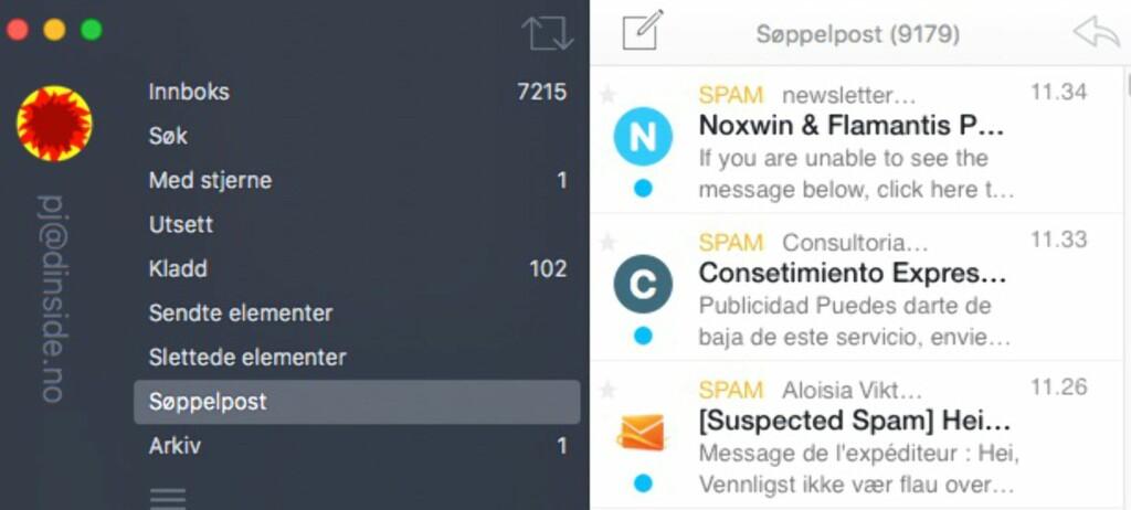SPAMSIEVE: Litt trening, og vips, så blir det aller meste av spam filtrert ut fra innboksen.