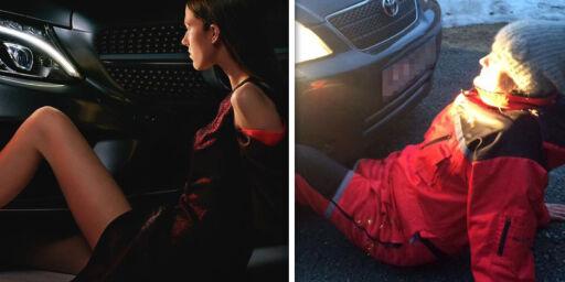image: Mercedes får kjeft etter reklame med lettkledd kvinne