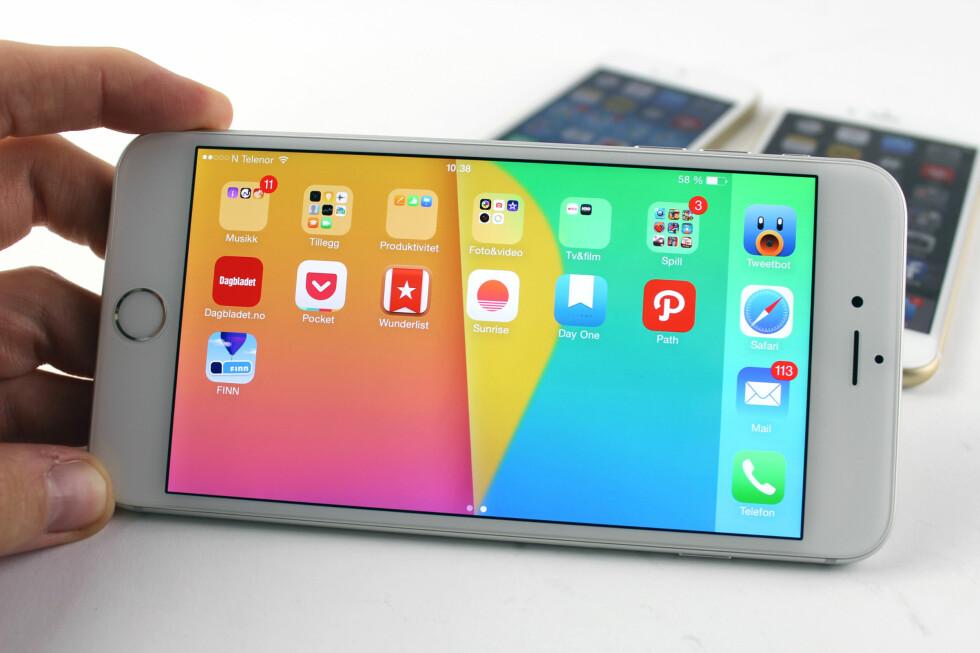 FAVORITTER: Vi har etter hvert prøvd ganske mange apper til iPhone, men vi faller stadig tilbake på bare et fåtall av dem.  Foto: KIRSTI ØSTVANG