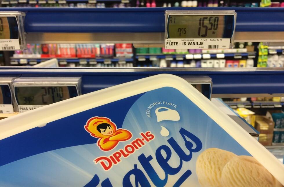 ISKRIG? Vaniljeis er blant produktene hvor det kriges om å være billigst før 17. mai. Foto: BERIT B. NJARGA