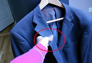 Slik fjerner du flekker på dressen - noen enkle tips
