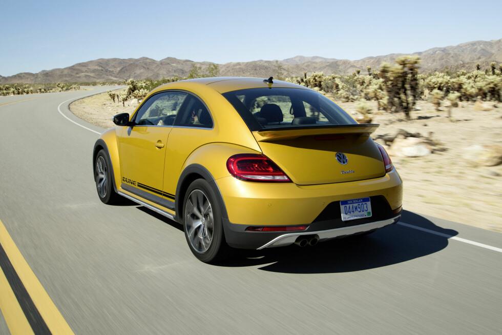 OMVENDT: Både Beetle og Beetle Dune har motor og drivhjul foran og bagasjerommet bak - på den opprinnelige Bobla var det omvendt. Foto: VOLKSWAGEN