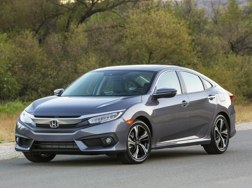 HONDA CIVIC: Modellnavnet er kjent hos oss, men i USA dreier det seg om en helt annen bil. Foto:  HONDA