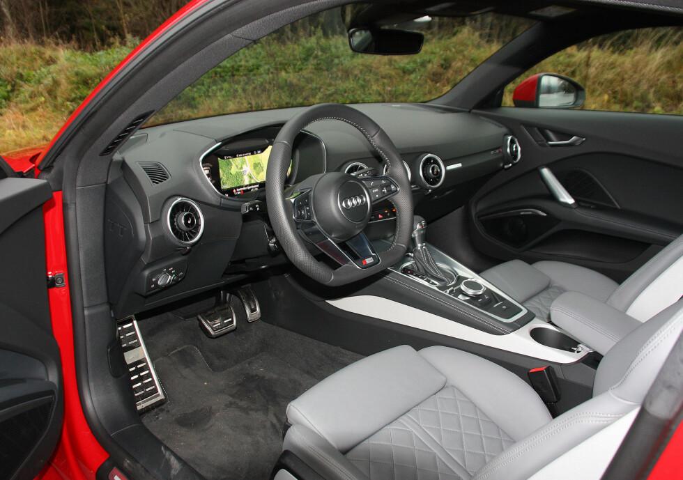 Ren design, heldigital instrumentering og ofte brukt betjening på de riktige stedene, imponerte juryen hos Audi. Foto: KNUT MOBERG