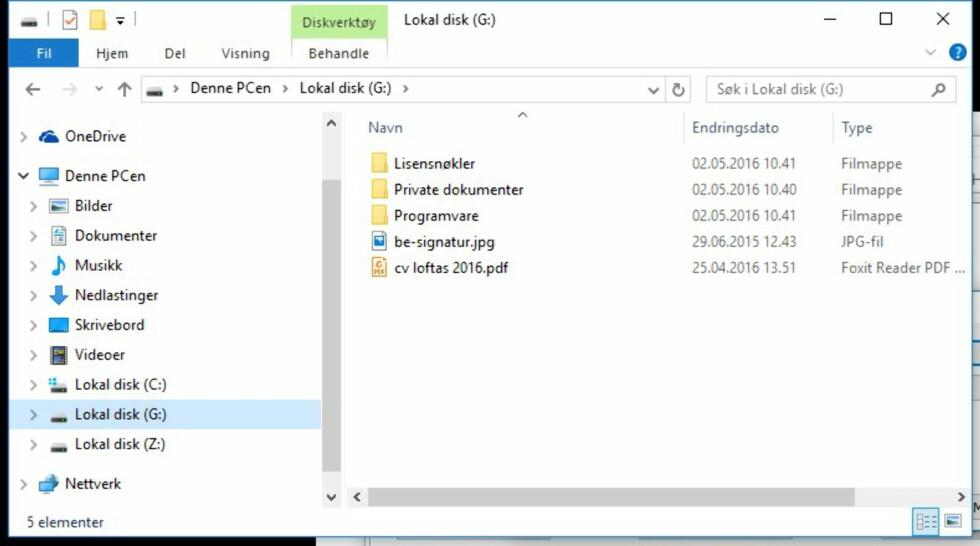 FOR YOUR EYES ONLY: Innholdet i den krypterte disken vil fremstå som den rene krimskrams for alle som ikke kjenner passordet.