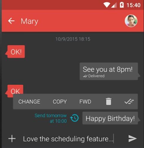 I MORGEN: Har noen bursdag i morgen kan du fint komponere meldingen i dag med Textra.