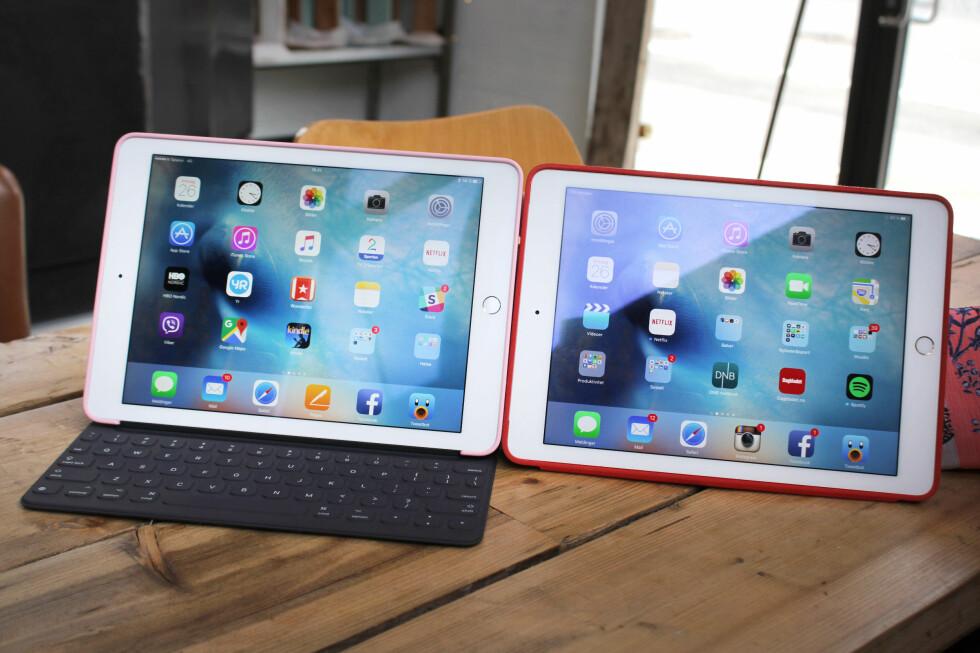 MINDRE GLOSSY: Den nye iPad-skjermen takler refleksjoner noe bedre enn den gamle. Foto: OLE PETTER BAUGERØD STOKKE