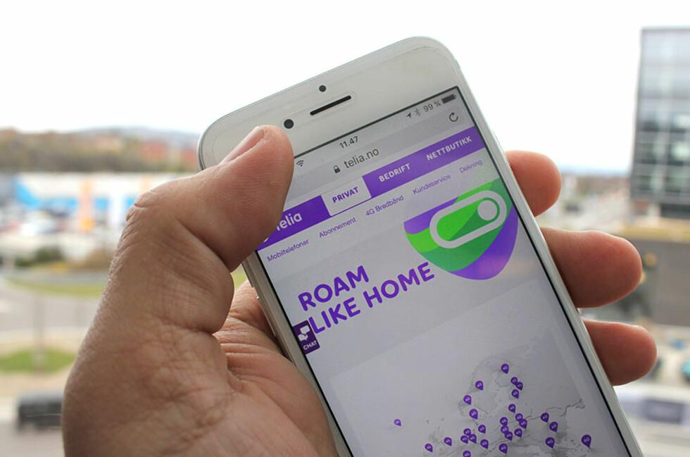 HJEMMEPRISER I UTLANDET: Telia-kundene behøver ikke å gjøre noe for å få de nye fordelene. Foto: BJØRN EIRIK LOFTÅS