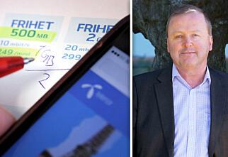 Telenor halverer datakvota om du velger fri roaming