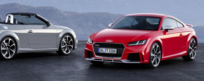 Audi TT RS Coupe og Roadster. Foto: Audi