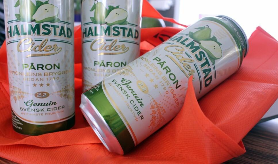 KVOTEFRITT: Du får flere sorter cider med lav alkoholprosent, som du gjerne kan hamstre i Sverige. Disse varene regnes ikke inn i alkoholkvota. Foto: Kristin Sørdal