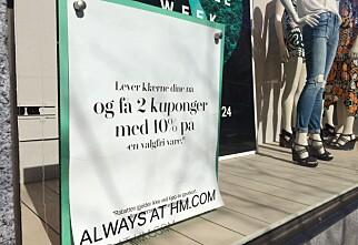 H&M tar i mot dine gamle klær til resirkulering og gjenbruk