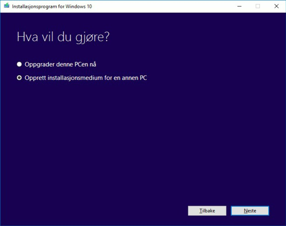Slik installerer du Windows 10