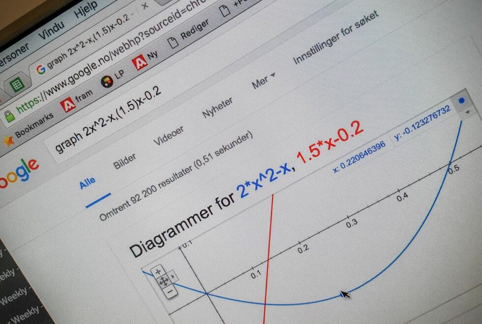 TEGN GRAFER: Google-søket kan hjelpe deg med mer enn du tror. Foto: Pål Joakim Pollen