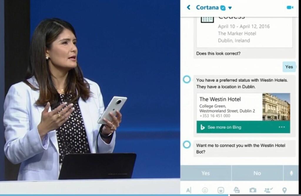 INTELLIGENT: Cortana og andre boter kan fikse mye rart for deg der du knapt trenger å løfte en finger. Foto: MICROSOFT