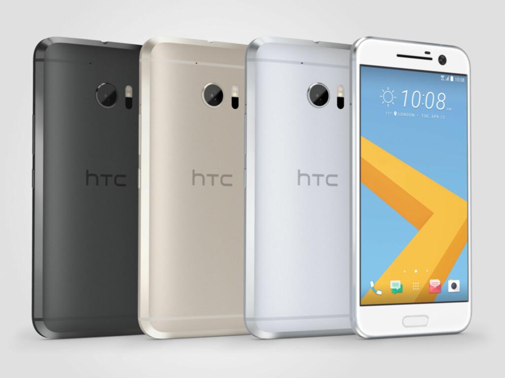 NY DESIGN: Mens M7, M8 og M9 var ganske like, har HTC fikset litt på tieren hva gjelder utseendet. Den blir for øvrig tilgjengelig i disse fargene. Foto: HTC