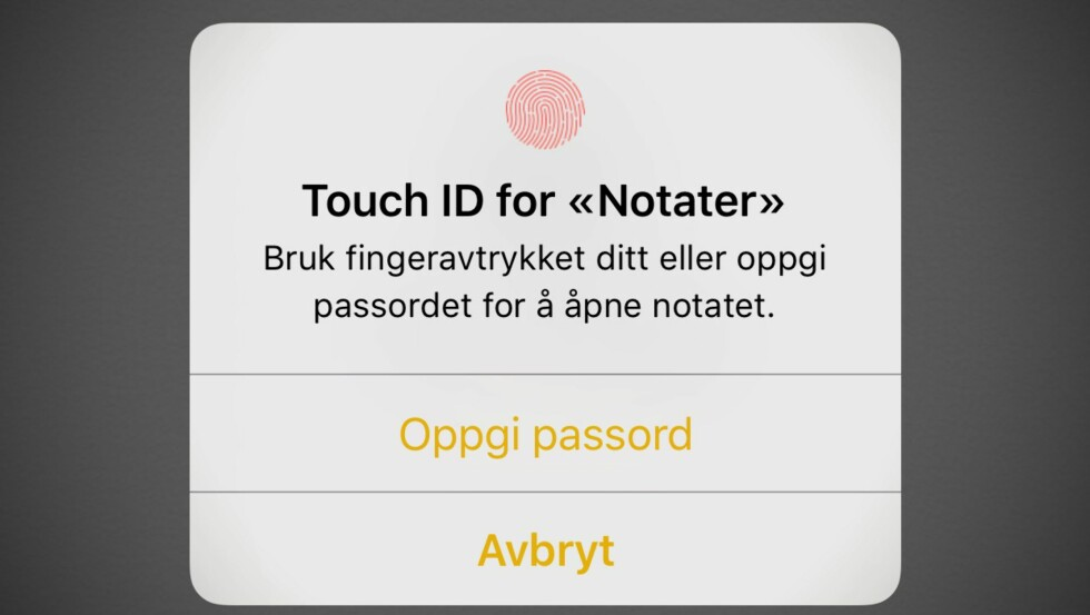 Beskytt iPhone-notater med passord