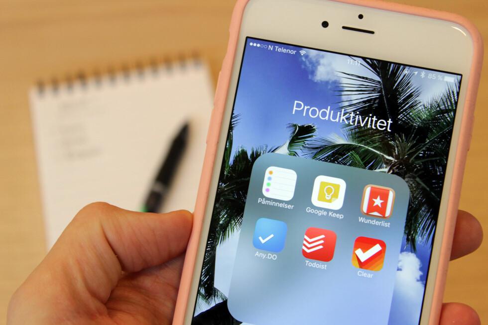 HOLDER ORDEN: Med en huskeliste-app vil du aldri glemme noe igjen.  Foto: KIRSTI ØSTVANG
