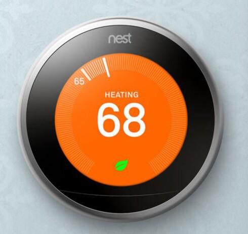 <strong><B>GOOGLE-DINGS:</strong></b> Nest er i utgangspunktet en termostat, men eieren Google har store ambisjoner med den. Foto: NEST