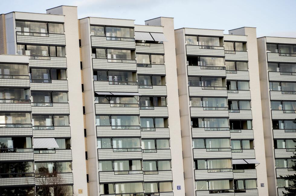 <strong><b>BYBOERE:</strong></B> Folk som bor slik som her på Romsås i Oslo er målgruppa for SFTY. Foto: VEGARD WIVESTAD GRØTT/NTB SCANPIX