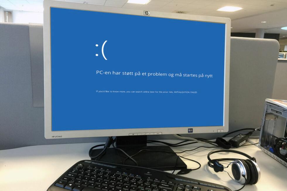 SKREKK OG GRU: Mye kan gå galt på en Windows-PC, spesielt hvis du liker å eksperimentere med programmer og innstillinger. Dette programmer nullstiller alle endringer hver gang du starter PC-en på nytt. Foto: BJØRN EIRIK LOFTÅS