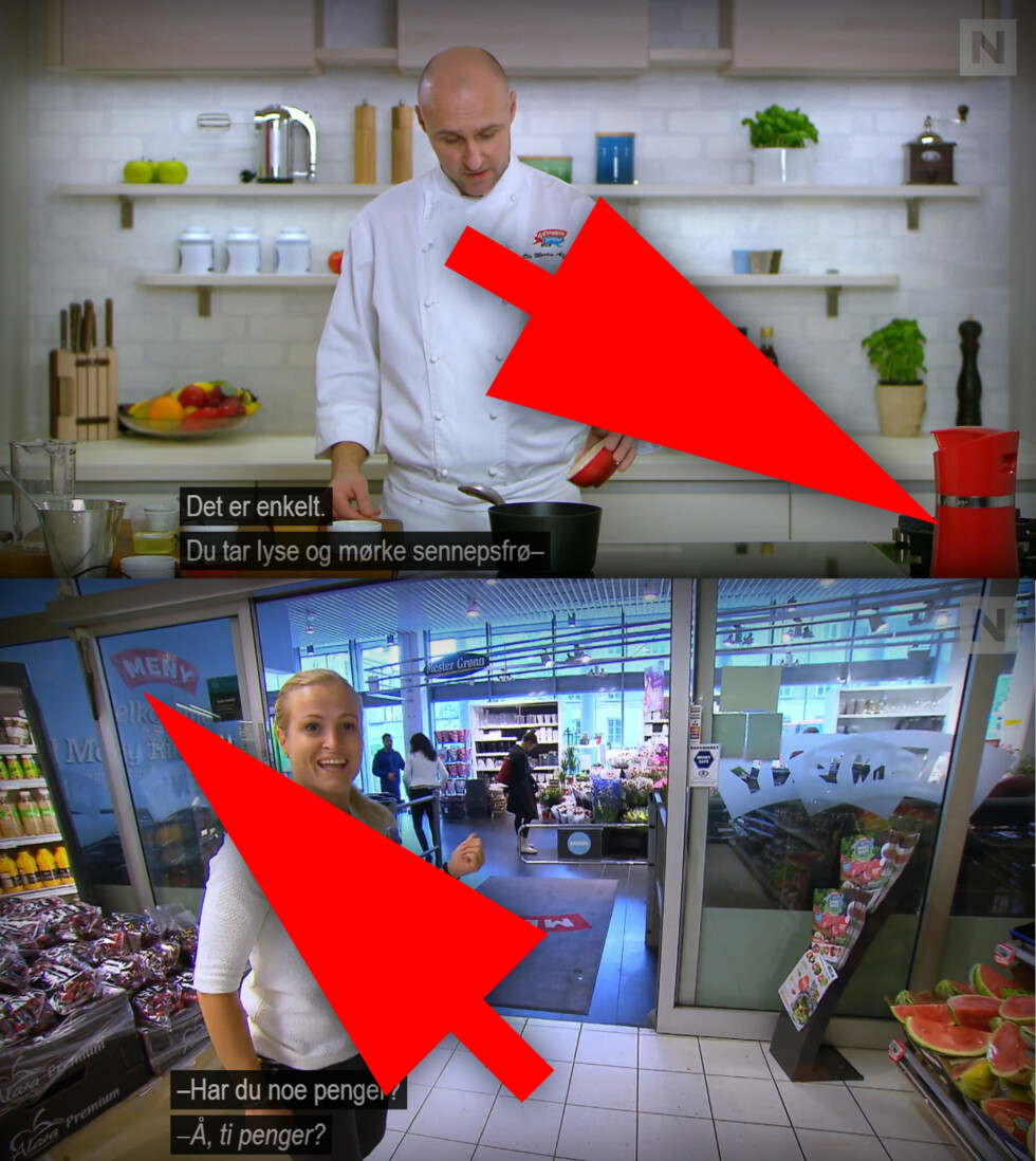 4-STJERNERS MIDDAG: Jordan Vaskerull står ikke tilfeldigvis på kokkebenken, og det er ikke tilfeldig at de hver gang besøker Meny. Foto: TVNORGE / OLE PETTER BAUGERØD STOKKE