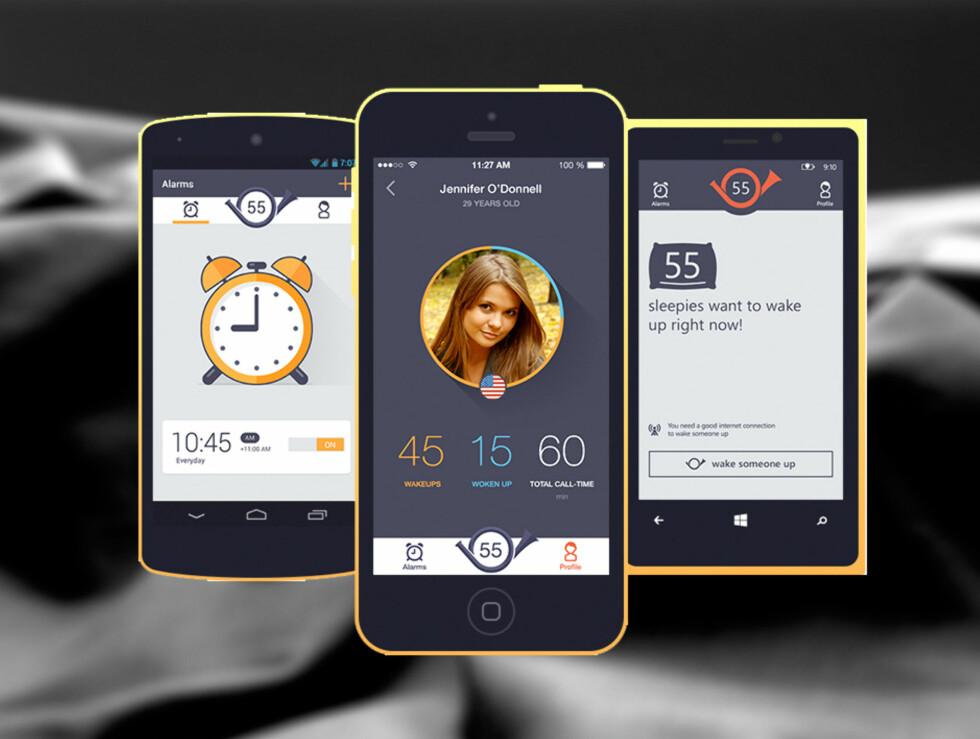 IKKE SOM DE ANDRE: Bestiller du en alarm via Wakie, blir du oppringt av en annen Wakie-bruker.