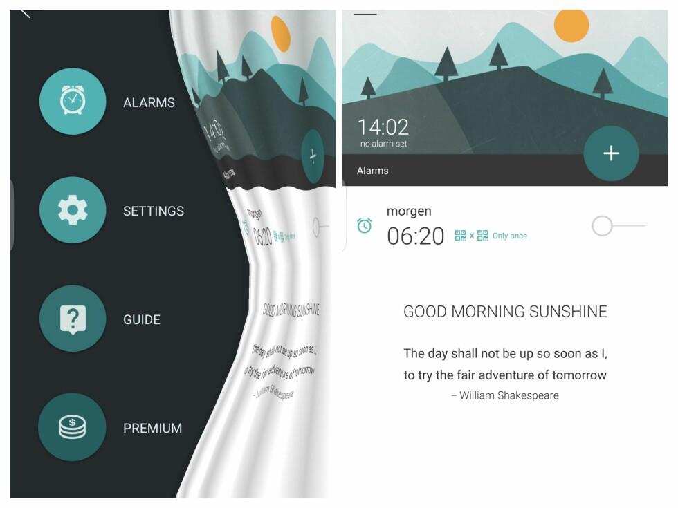 DELIKAT: Morning Routine er utviklet av norske Agens og har svært pent grensesnitt.