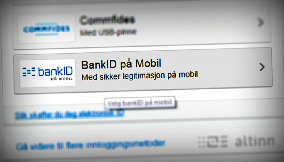 SE ETTER DETTE: Det er ikke alle som støtter BankID på mobil, men de aller fleste er nå med, også det offentlige. Ser du et slikt valg, er det bare å dra fram mobilen.  Foto: OLE PETTER BAUGERØD STOKKE