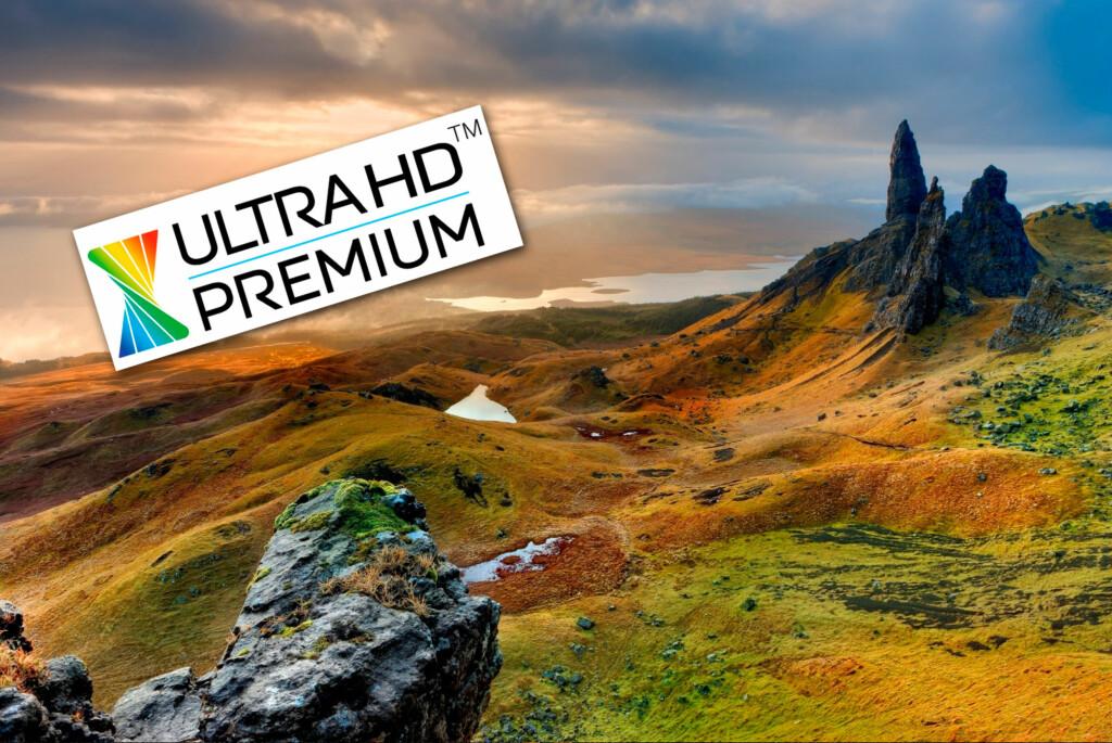 <strong>MERKET:</strong> Kjøper du en TV merket «Ultra HD Premium» betyr det at den følger bransjestandarden for HDR-bilder.