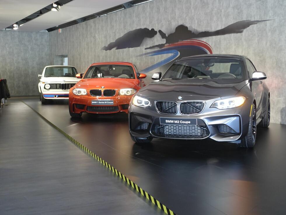 ARVEN: BMW trekker linjene fra 2002 Turbo, via 1M, men egentlig er den størrelsesmessig mer i arv med de tre første M3ene.                                Foto: BMW