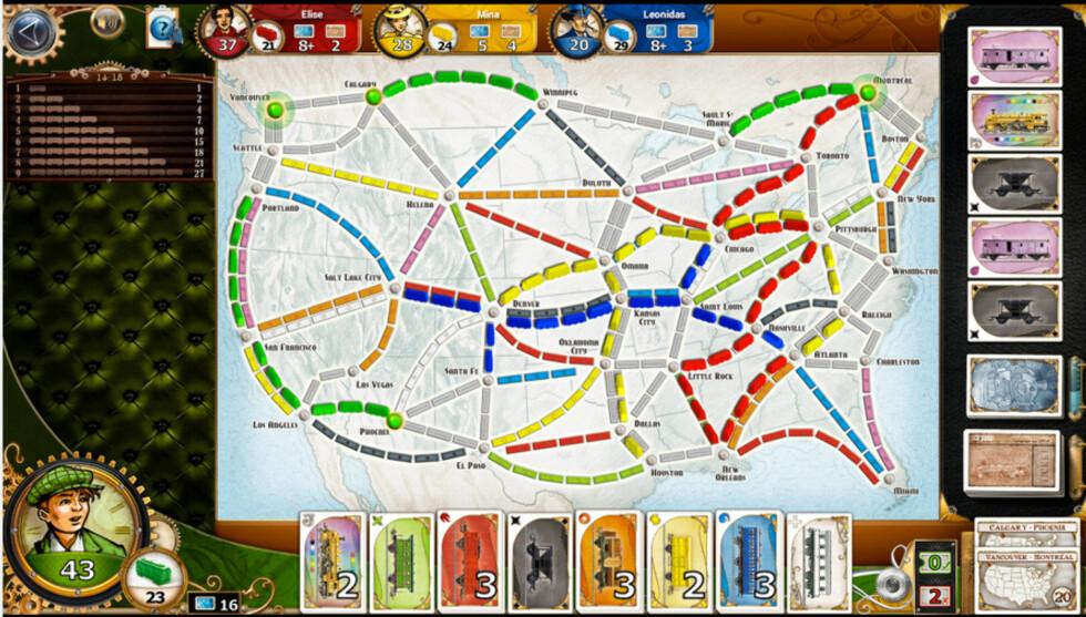 CHUGGA-CHUGGA: I Ticket to ride skal man bygge jernbanestrekninger på en smart måte for å vinne spillet.