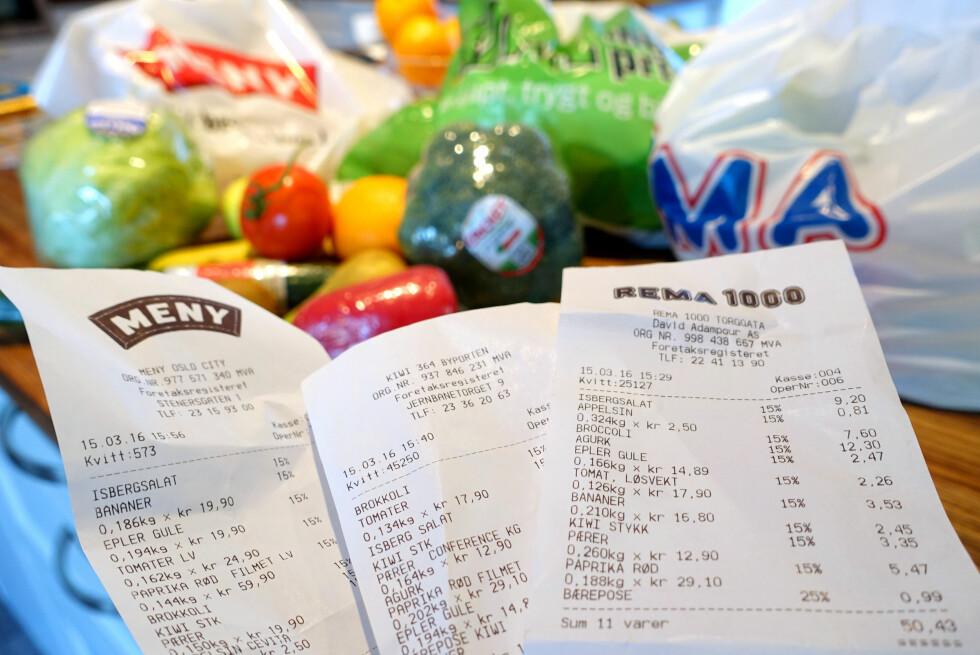 BILLIGST MED BONUS? Flere kjeder frister kunder med sunnhetsbonus på frukt og grønt. Men hvor får du egentlig aller billigst frukt og grønnsaker? Vi har sjekket prisene. Foto: KRISTIN SØRDAL