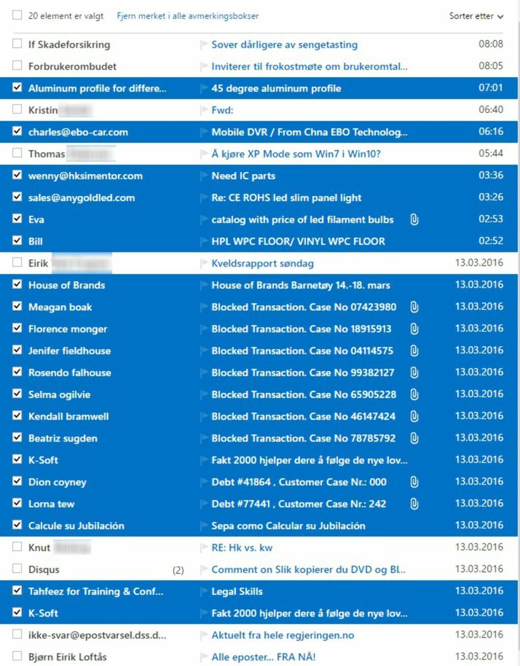 image: Outlook mot Gmail: Hvem er best mot spam?