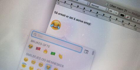 image: Slik får du emoji på Mac