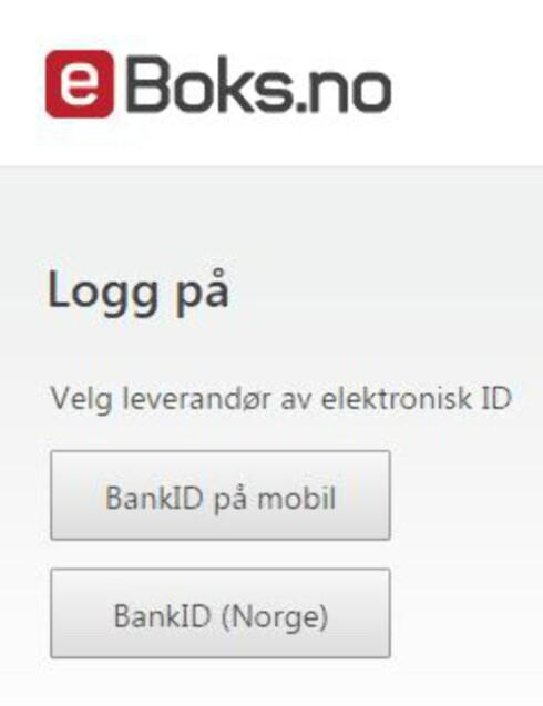 RETT INN: E-boks starter med sikker innlogging, og du har dermed tilgang til offentlige papirer med én gang. Foto: TORE NESET/E-BOKS
