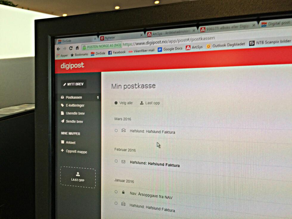 SPAM-FRITT: Både Digipost og e-Boks gir deg bare den viktige posten. Svindlere og lurendreiere slipper ikke inn. Foto: TORE NESET