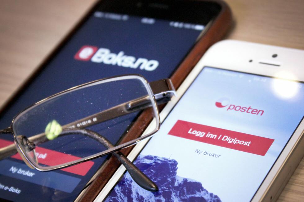 DUELL: eBoks mot Digipost - hvilken av de to er beste alternativ for digitalpost? Foto: OLE PETTER BAUGERØD STOKKE