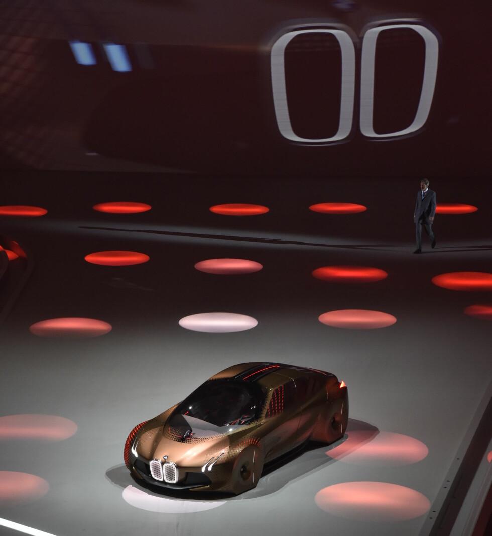 SYMBOLET: Vi ser konturene av en bil, men dette er noe ganske annet enn det vi i dag anser som et normalt kjøretøy. Foto: BMW