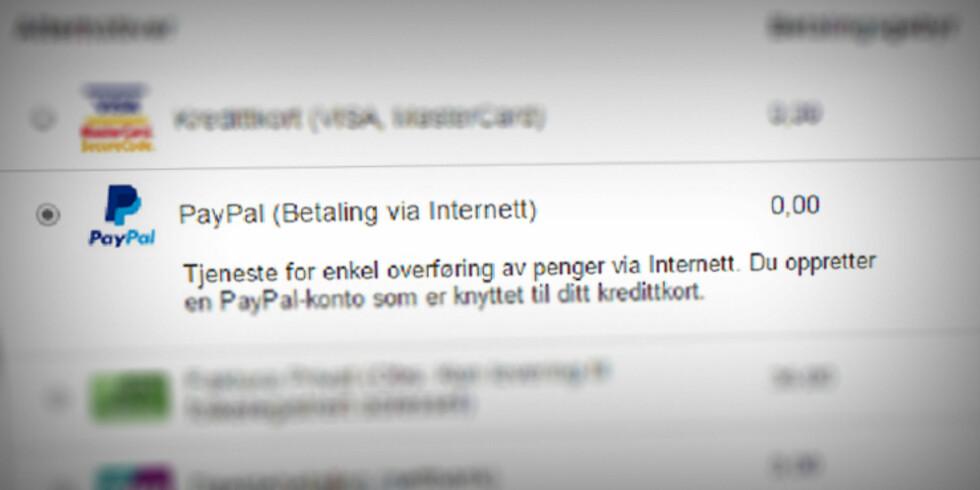 PÅ ELKJØP: Det er fort gjort å tenke at Paypal er noe utenlandske nettbutikker bruker. Men mange norske aktører, som Elkjøp.no, tilbyr også betaling med Paypal.  Foto: OLE PETTER BAUGERØD STOKKE
