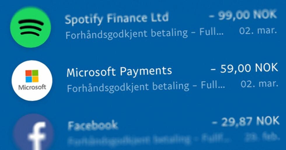 FULL OVERSIKT: I Paypal-appen ser jeg raskt og enkelt hva jeg har brukt penger på den siste tida. Tidligere skjulte disse utgiftene seg i meterlange kontoutskrifter fra banken.  Foto: OLE PETTER BAUGERØD STOKKE
