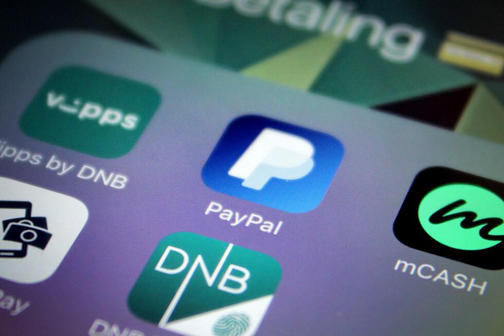 FAVORITT: Av alle betalingstjenestene jeg har på mobilen, er det Paypal jeg bruker mest.  Foto: OLE PETTER BAUGERØD STOKKE