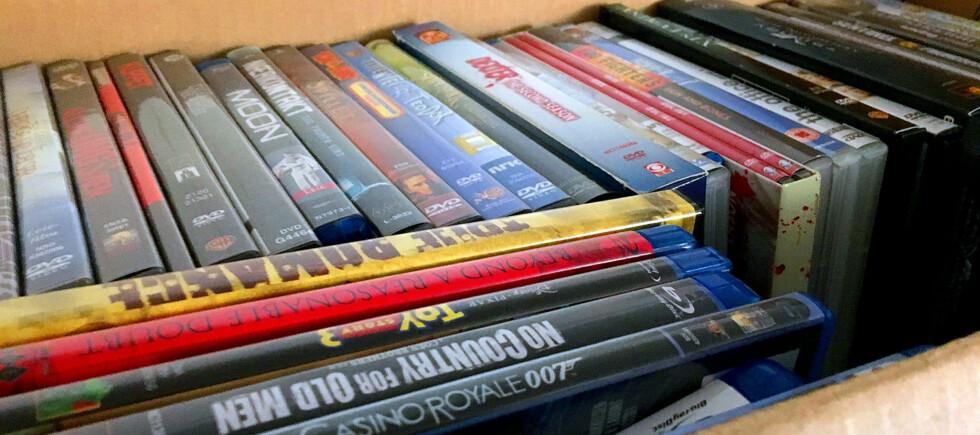 PAKKES BORT: Filmer på plate har blitt mindre og mindre aktuelt for mange av oss de siste årene. Men før de pakkes bort kan du lage digitale kopier som du kan ha liggende på PC-en, ekstern harddiske eller minnepinne. Foto: BJØRN EIRIK LOFTÅS