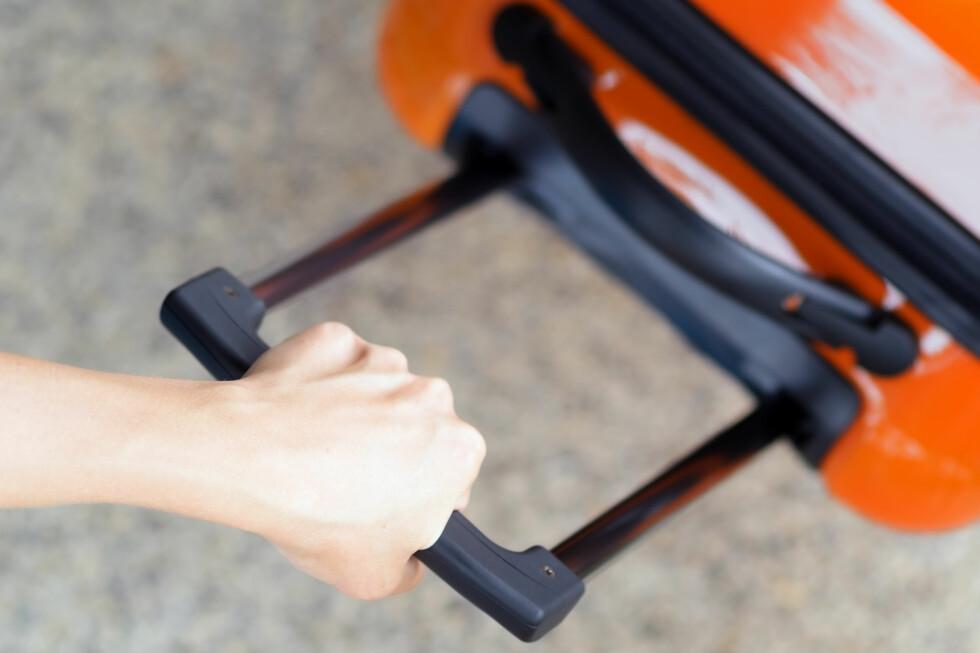 HÅNDBAGASJE: Pass på hvor stor koffert du velger, og hvor mye du legger inni. Foto: Shutterstock/NTB Scanpix