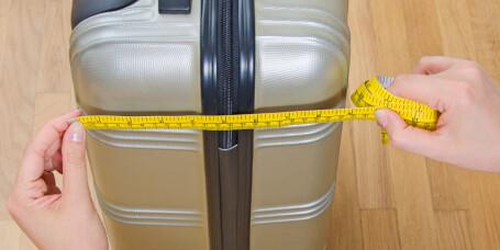 Pass på målene for håndbagasje