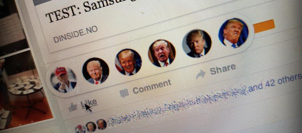 <strong>DONALD:</strong> Du kan enkelt bytte ut Facebooks nye reaksjonsikoner med andre. Foto: PÅL JOAKIM OLSEN