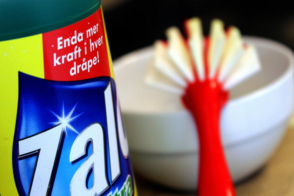 ALLSIDIG: Oppvaskmiddelet ditt, enten det er Zalo eller av en annet merke, kan brukes til det meste av hverdagsrengjøring.  Foto: OLE PETTER BAUGERØD STOKKE