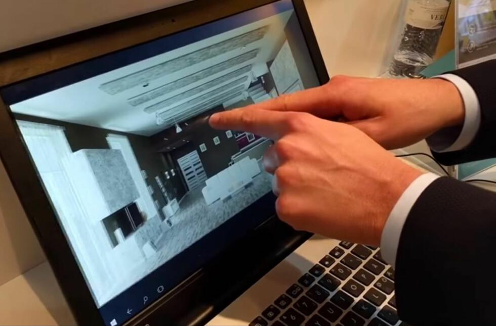 NESTEN LITT MAGISK: Airbar festes under skjermen og gjør at PC-er uten touch-skjerm får touch-skjerm. Foto: PÅL JOAKIM OLSEN