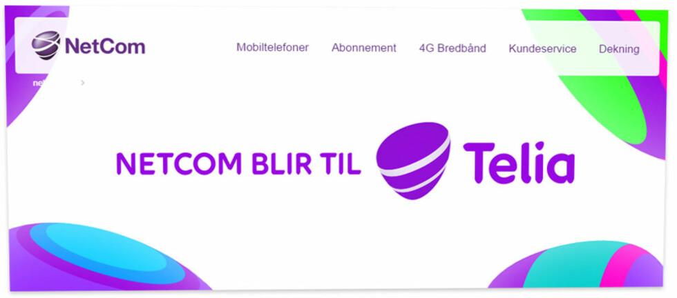 <strong><b>NY LOGO:</strong> </B>Telia-logoen blir ganske lik den lilla klumpen vi allerede har blitt vant til.  Foto: OLE PETTER BAUGERØD STOKKE
